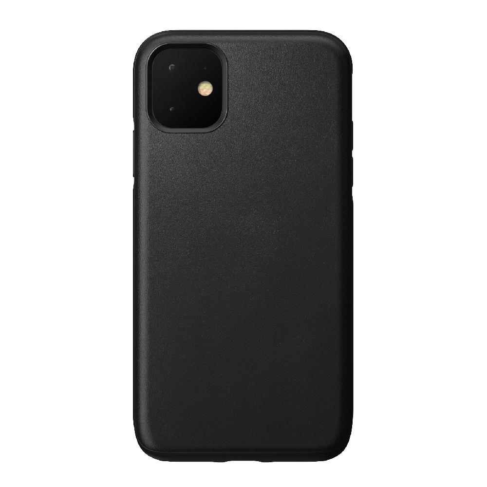 Купить Кожаный чехол Nomad Rugged Case Black для iPhone 11