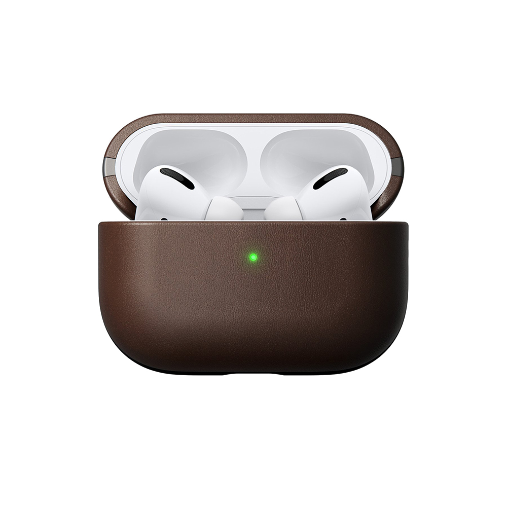 Купить Коричневый кожаный чехол Nomad Rugged Case для наушников Apple AirPods Pro