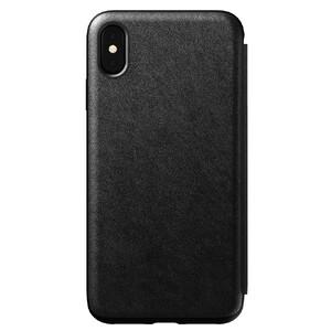 Купить Кожаный чехол-книжка Nomad Rugged Folio Black для iPhone XS Max