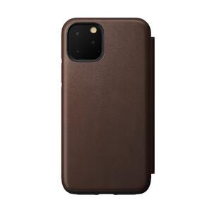 Купить Кожаный чехол-книжка Nomad Rugged Folio Rustic Brown для iPhone 11 Pro
