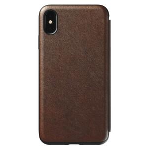 Купить Кожаный чехол-книжка Nomad Rugged Folio Rustic Brown для iPhone XS Max