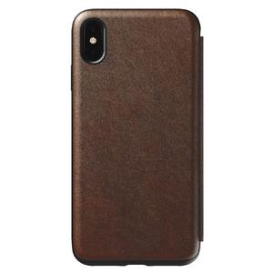 Купить Кожаный чехол-книжка Nomad Rugged Tri-Folio для iPhone XS Max
