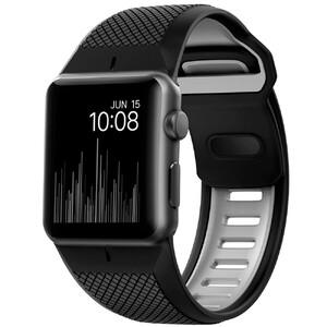 Купить Спортивный ремешок Nomad Sport Strap Black & Slate для Apple Watch 42mm Series 1/2