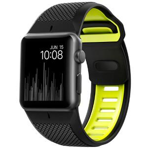 Купить Спортивный ремешок Nomad Sport Strap Black & Volt для Apple Watch 42mm Series 1/2/3