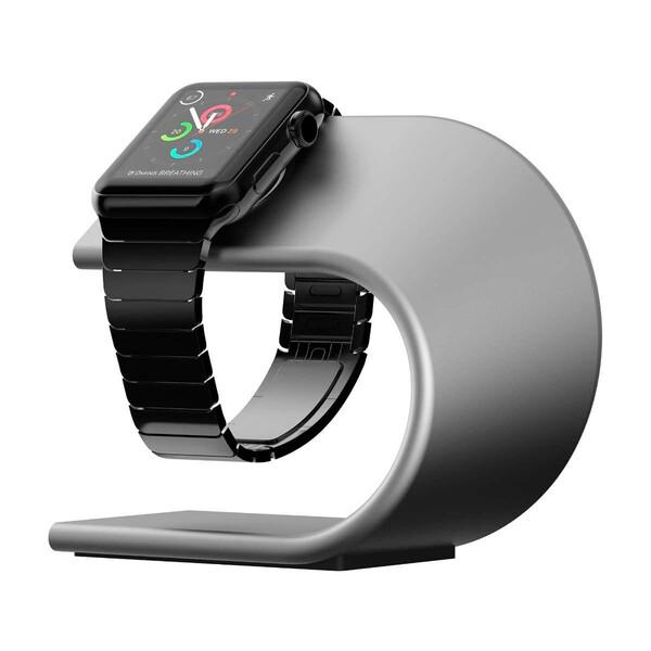 Алюминиевая док-станция Nomad Stand для Apple Watch Silver