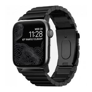 Купить Металлический ремешок Nomad Steel Band Black для Apple Watch 42mm/44mm Series 5/4/3/2/1