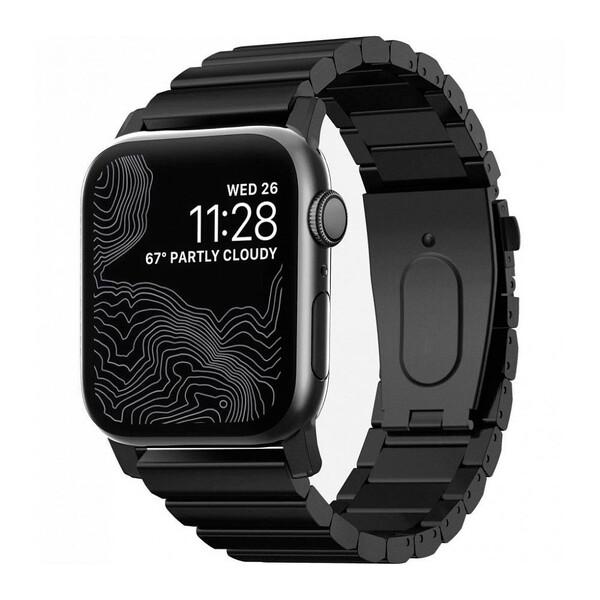 Металлический ремешок Nomad Steel Band Black для Apple Watch 42mm   44mm SE   6   5   4   3   2   1