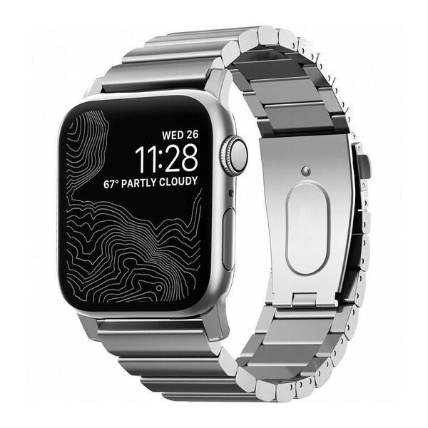 Металлический ремешок Nomad Steel Band Silver для Apple Watch 42mm   44mm SE   6   5   4   3   2   1