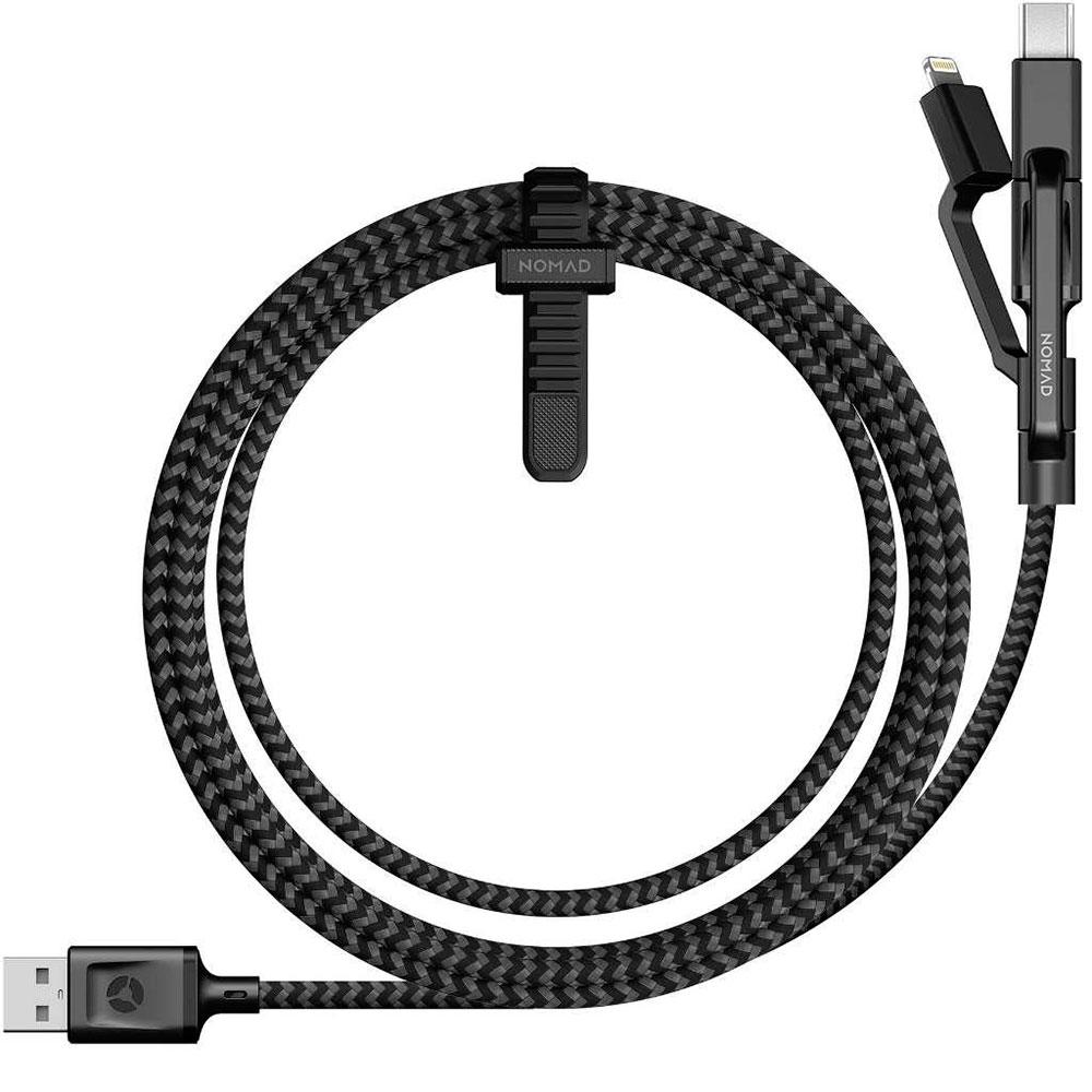 Купить Универсальный кабель Nomad Universal Cable USB to Lightning   Micro-USB   USB Type-C 1.5m