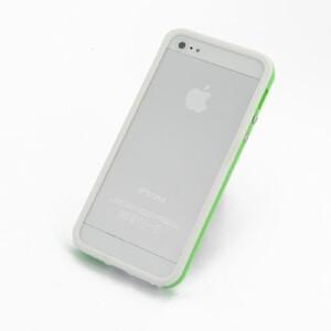 Купить Двухцветный бело-зеленый бампер oneLounge для iPhone 5/5S/SE