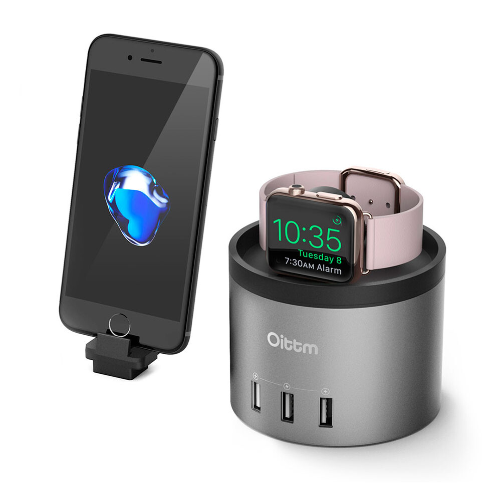Док-станция Oittm Nightstand Black для Apple Watch/iPhone