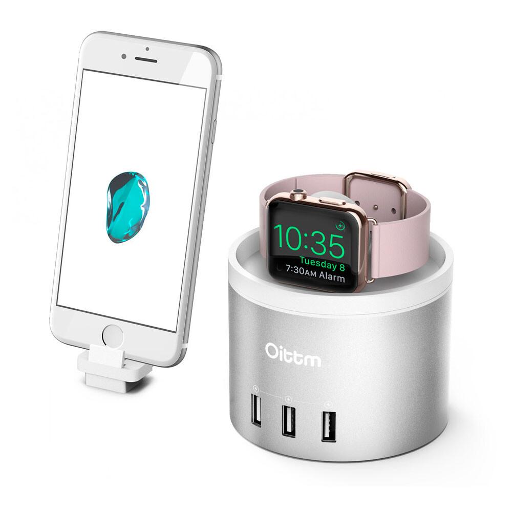 Док-станция Oittm Nightstand Silver для Apple Watch/iPhone