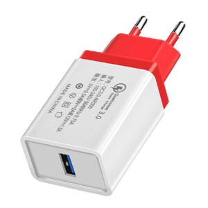 Купить Зарядное устройство oneLounge Olaf Qualcomm Quick Charge 3.0 Red, Цена 199 грн