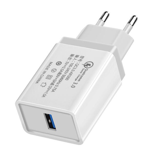 Зарядное устройство iLoungeMax Olaf Qualcomm Quick Charge 3.0 White