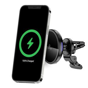 Купить Магнитный автодержатель с беспроводной зарядкой oneLounge 1Mag MagSafe для iPhone 12 | iPhone 13