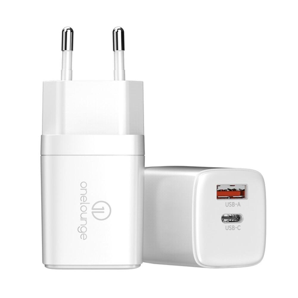 Зарядное устройство oneLounge 1Power PD 20W USB-C + USB-A для iPhone | iPad | MacBook M1