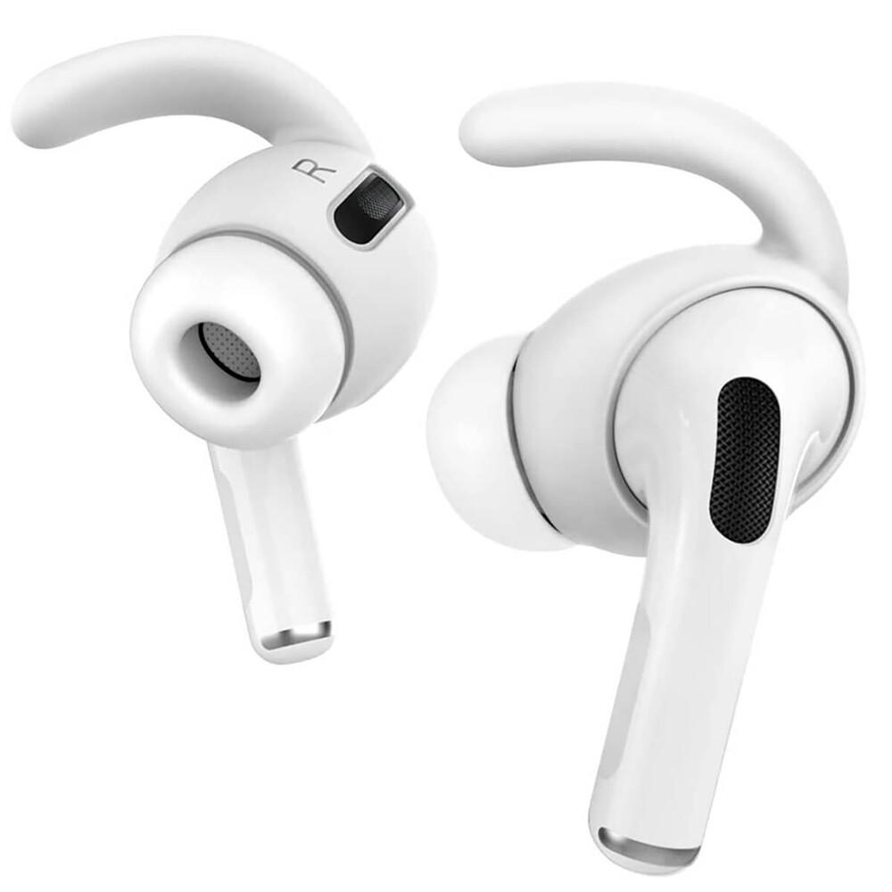 Купить Силиконовые накладки для AirPods Pro iLoungeMax AhaStyle Ear Hooks White