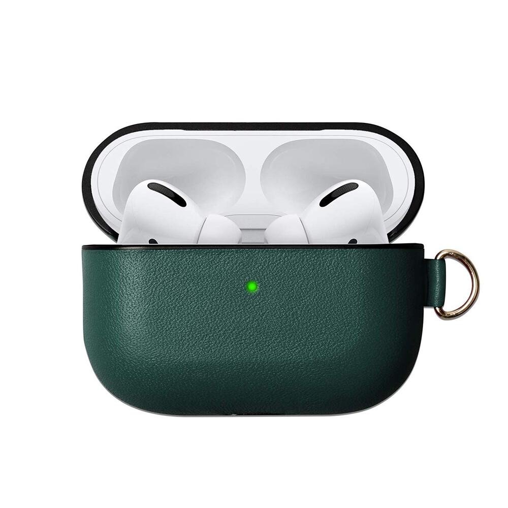 Зеленый кожаный чехол iLoungeMax для наушников Apple AirPods Pro