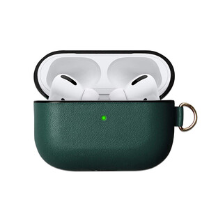 Купить Зеленый кожаный чехол oneLounge для наушников Apple AirPods Pro