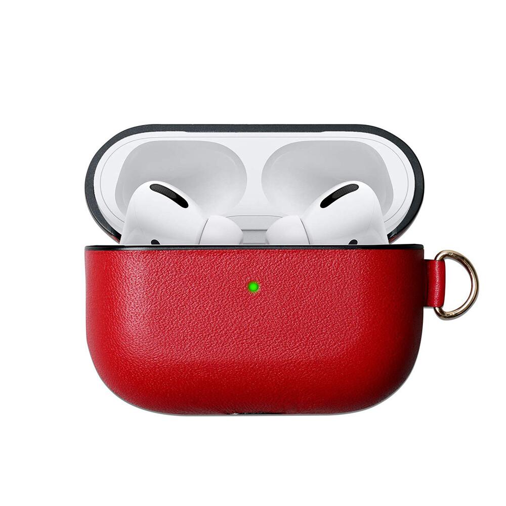 Красный кожаный чехол iLoungeMax Red для наушников Apple AirPods Pro