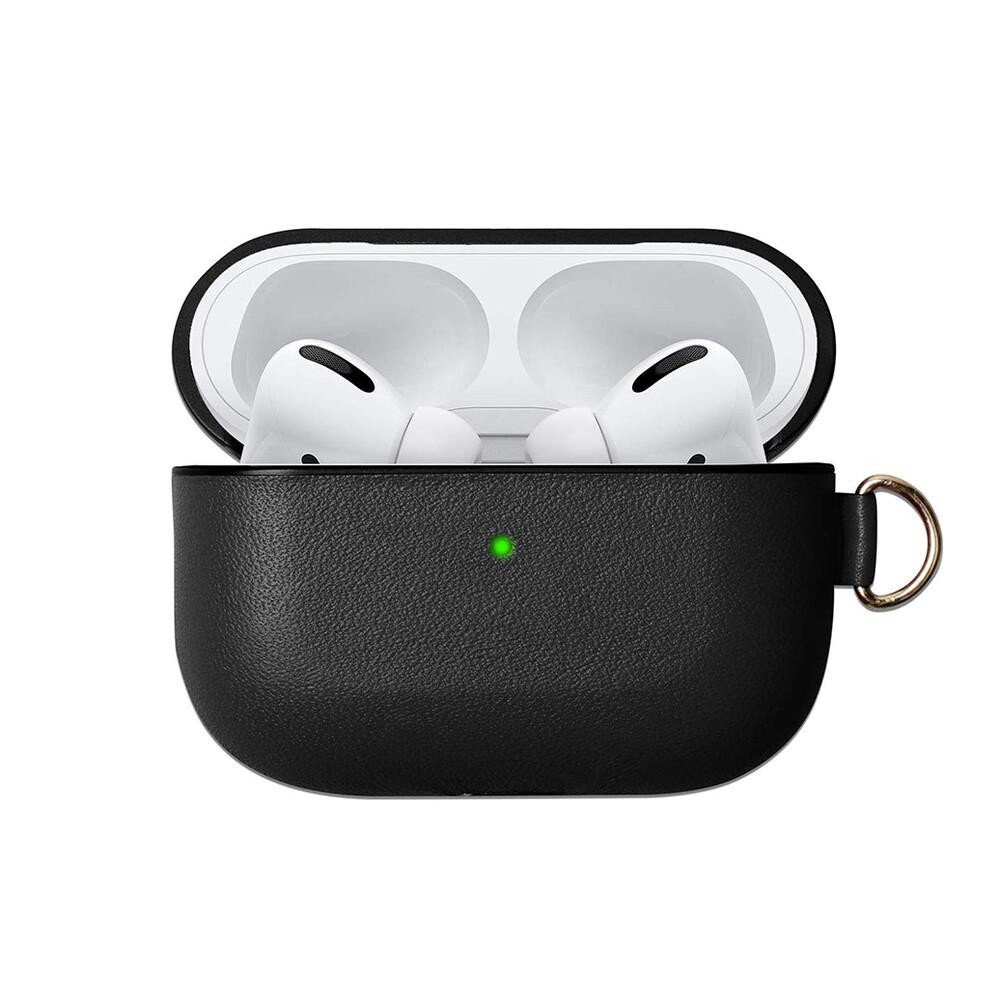 Черный кожаный чехол oneLounge для наушников Apple AirPods Pro