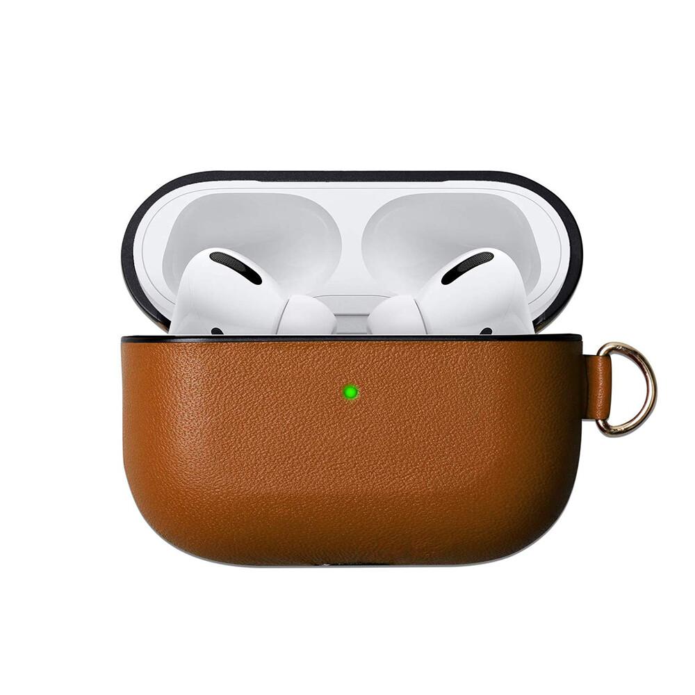 Коричневый кожаный чехол iLoungeMax Brown для наушников Apple AirPods Pro