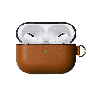 Купить Коричневый кожаный чехол oneLounge Brown для наушников Apple AirPods Pro