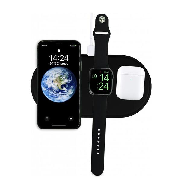 Беспроводная черная зарядка iLoungeMax AirPower Black для iPhone | Apple Watch | AirPods OEM