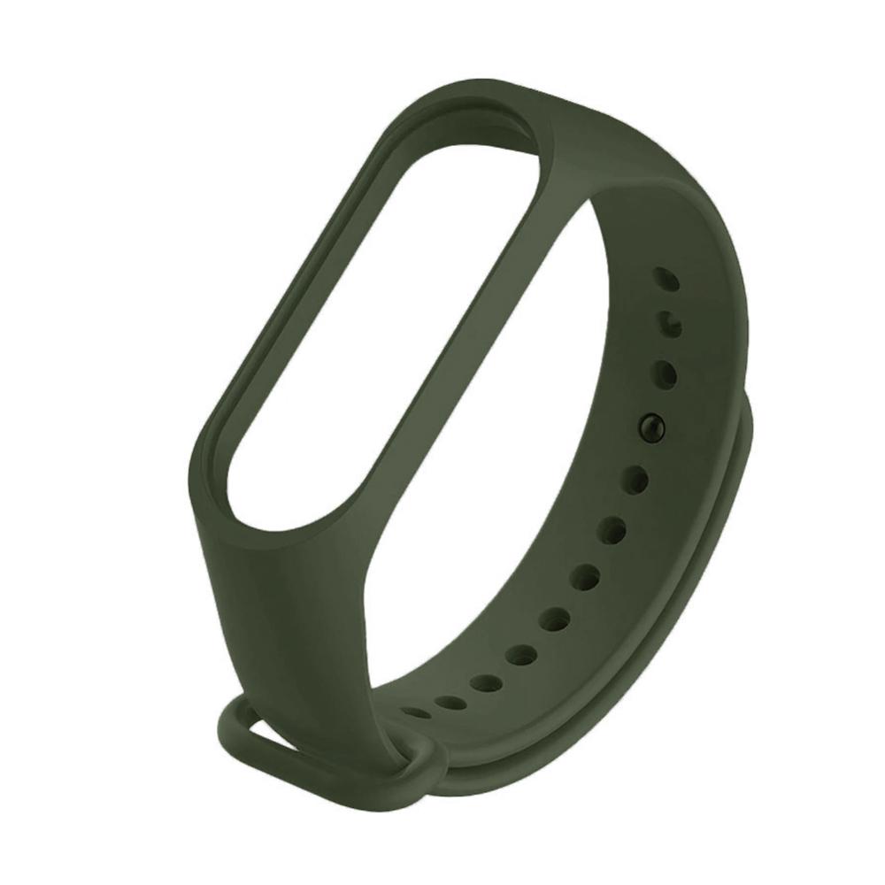 Купить Зеленый силиконовый ремешок oneLounge Army Green для Xiaomi Mi Band 5 | 6
