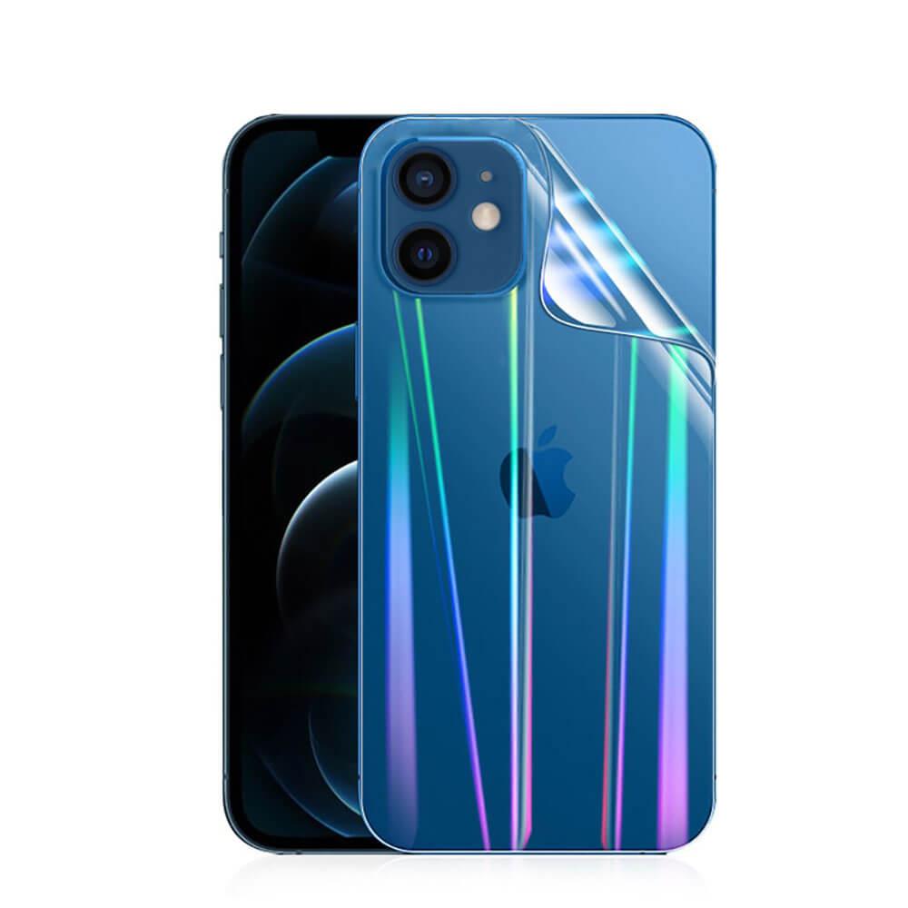 Купить Задняя защитная гидрогелевая пленка с градиентом oneLounge Hydrogel Film Aurora для iPhone 12 mini