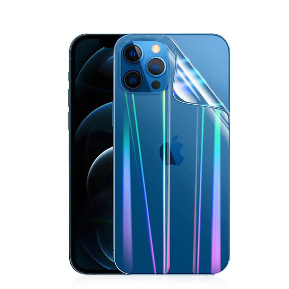 Купить Задняя защитная гидрогелевая пленка с градиентом oneLounge Hydrogel Film Aurora для iPhone 12 Pro Max