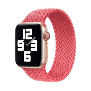Купить Плетеный монобраслет iLoungeMax Braided Solo Loop Pink для Apple Watch 44mm | 42mm Size S OEM