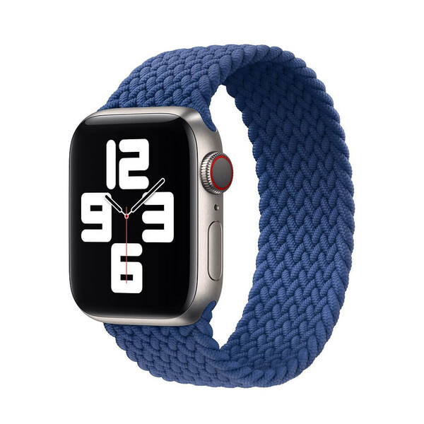 Плетеный монобраслет iLoungeMax Braided Solo Loop Atlantic Blue для Apple Watch 44mm   42mm Size M OEM