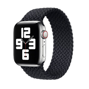 Купить Плетеный монобраслет oneLounge Braided Solo Loop Charcoal Black для Apple Watch 44mm | 42mm Size L OEM