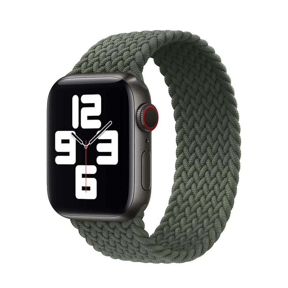 Плетеный монобраслет iLoungeMax Braided Solo Loop Inverness Green для Apple Watch 44mm | 42mm Size L OEM