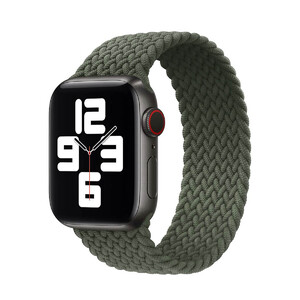 Купить Плетеный монобраслет iLoungeMax Braided Solo Loop Inverness Green для Apple Watch 44mm   42mm Size L OEM