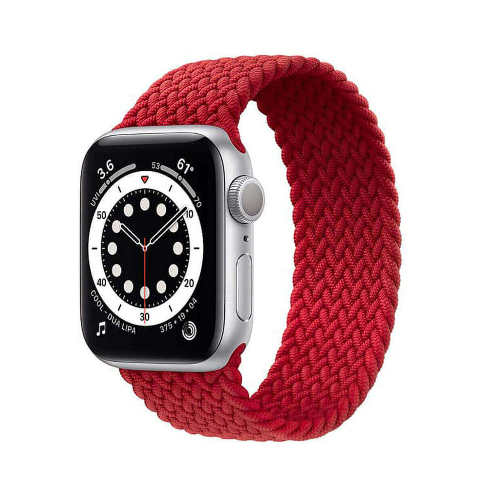 Плетеный монобраслет iLoungeMax Braided Solo Loop Red для Apple Watch 44mm | 42mm Size M OEM