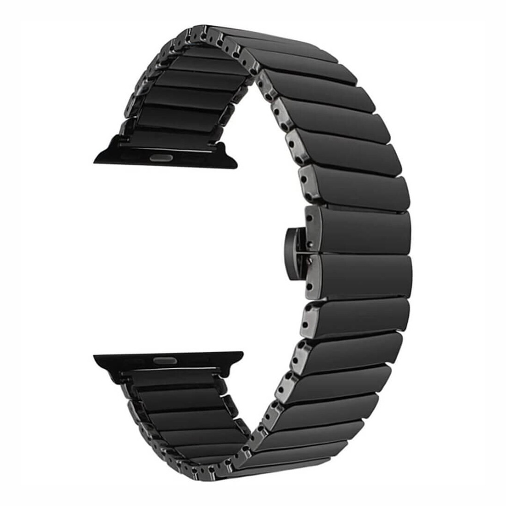 Купить Керамический ремешок oneLounge Ceramic Band Strap Black для Apple Watch 40mm | 38mm SE | 6 | 5 | 4 | 3 | 2 | 1