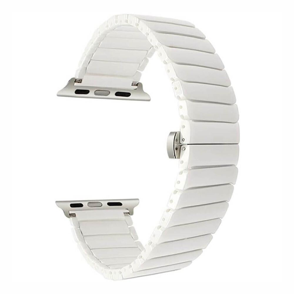 Керамический ремешок iLoungeMax Ceramic Band Strap White для Apple Watch 40mm   38mm SE   6   5   4   3   2   1
