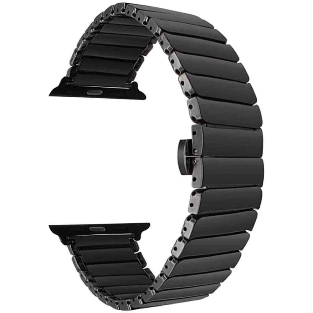 Керамический ремешок iLoungeMax Ceramic Band Strap Black для Apple Watch 44mm | 42mm SE | 6 | 5 | 4 | 3 | 2 | 1