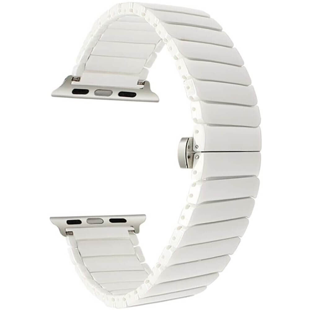 Керамический ремешок iLoungeMax Ceramic Band Strap White для Apple Watch 44mm | 42mm SE | 6 | 5 | 4 | 3 | 2 | 1