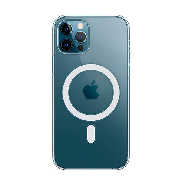 Прозрачный силиконовый чехол iLoungeMax Clear Case MagSafe для iPhone 12 Pro Max OEM