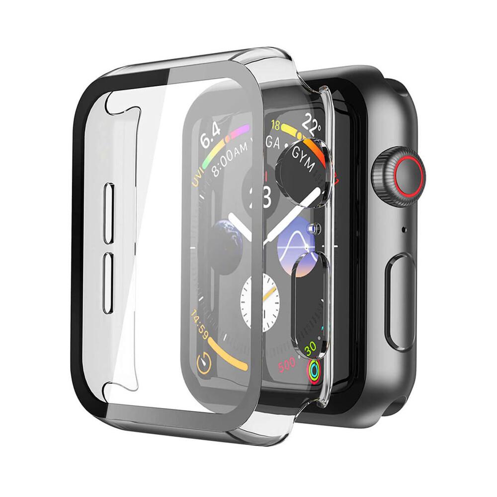 Купить Прозрачный чехол с защитным стеклом oneLounge Clear Premium Case PC+Glass для Apple Watch 44mm