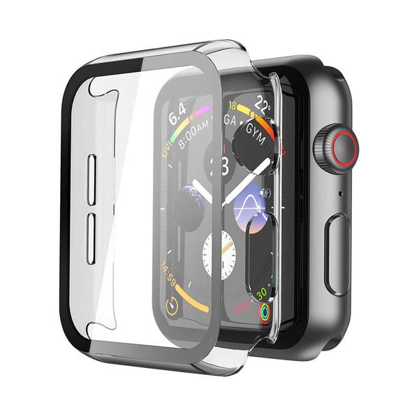 Прозрачный чехол с защитным стеклом iLoungeMax Clear Premium Case PC+Glass для Apple Watch 44mm