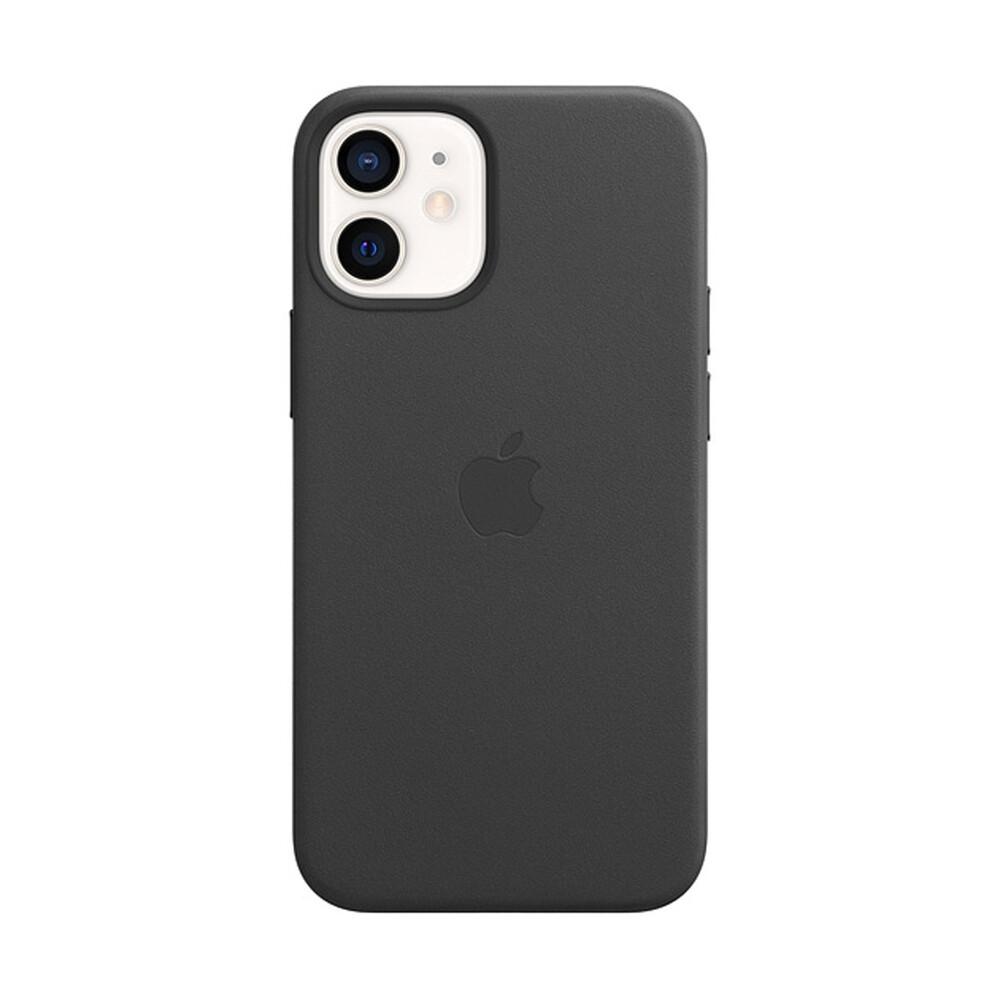 Кожаный чехол iLoungeMax Genuine Leather Case MagSafe Black для iPhone 12 mini ОЕМ