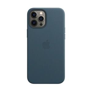 Купить Кожаный чехол iLoungeMax Genuine Leather Case MagSafe Baltic Blue для iPhone 12 Pro Max ОЕМ