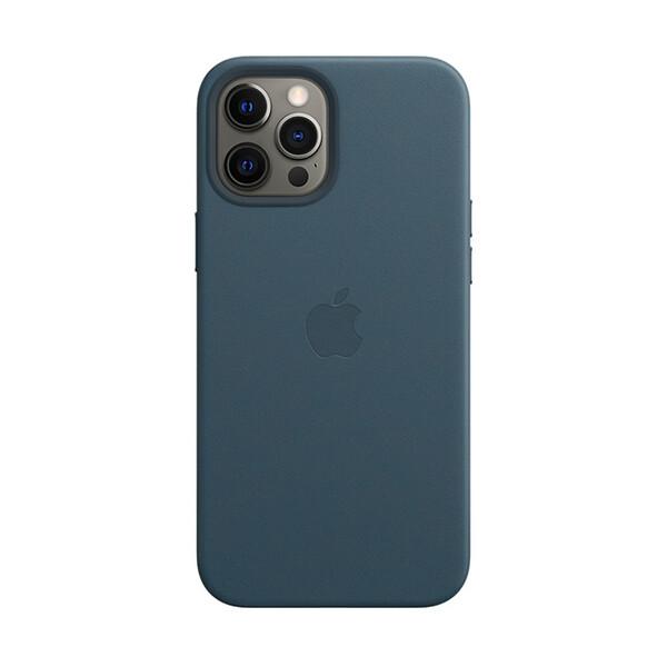 Кожаный чехол iLoungeMax Genuine Leather Case MagSafe Baltic Blue для iPhone 12 | 12 Pro ОЕМ