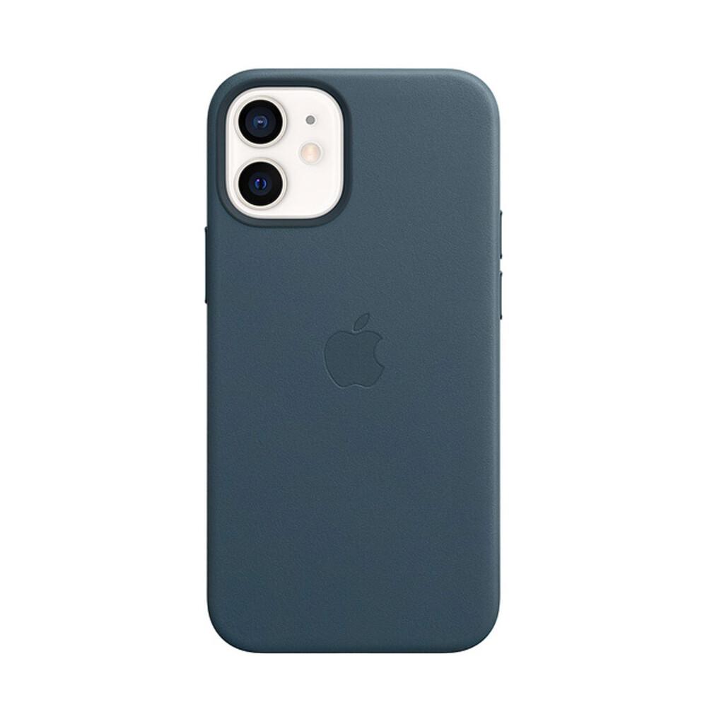 Кожаный чехол iLoungeMax Genuine Leather Case MagSafe Baltic Blue для iPhone 12 mini ОЕМ