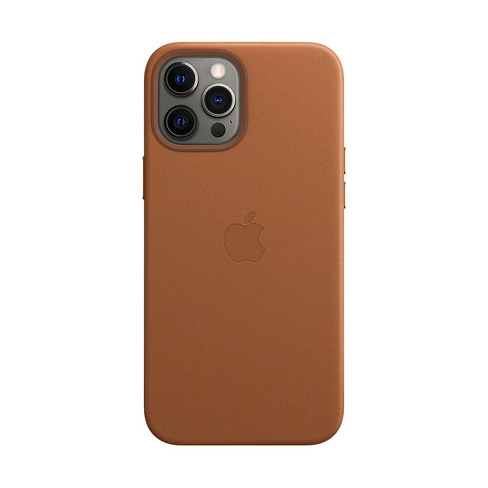 Кожаный чехол iLoungeMax Genuine Leather Case MagSafe Saddle Brown для iPhone 12   12 Pro ОЕМ
