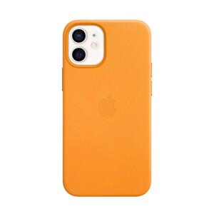 Купить Кожаный чехол oneLounge Genuine Leather Case MagSafe California Poppy для iPhone 12 mini ОЕМ